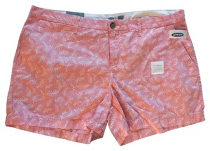 Old Navy Cuffed Shorts pink white