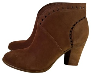 Vince Camuto Fritan Leather Triangle Brown Boots