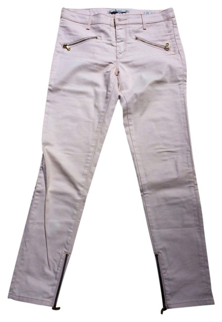 Item - Pale Pink Coated Light Waxed Skinny Straight Leg Jeans Size 27 (4, S)