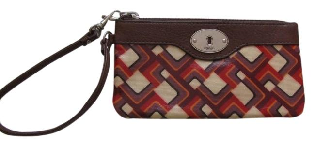 Item - 177405 0811 Sl3068 Multicolor Vinyl/Leather Trim Wristlet