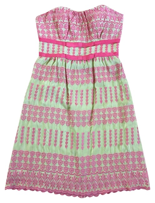 Preload https://item3.tradesy.com/images/tracy-reese-pink-green-cocktail-dress-size-8-m-2131467-0-0.jpg?width=400&height=650