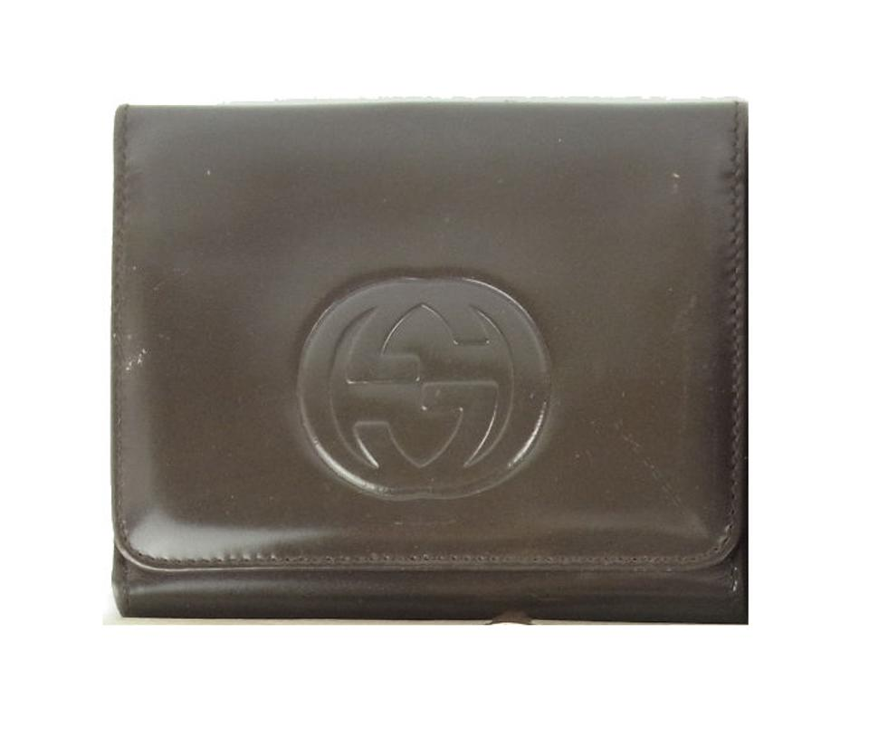 6fcd8d7682bd Gucci Brown Patent Leather Vintage Wallet/Designer Wallet - Tradesy