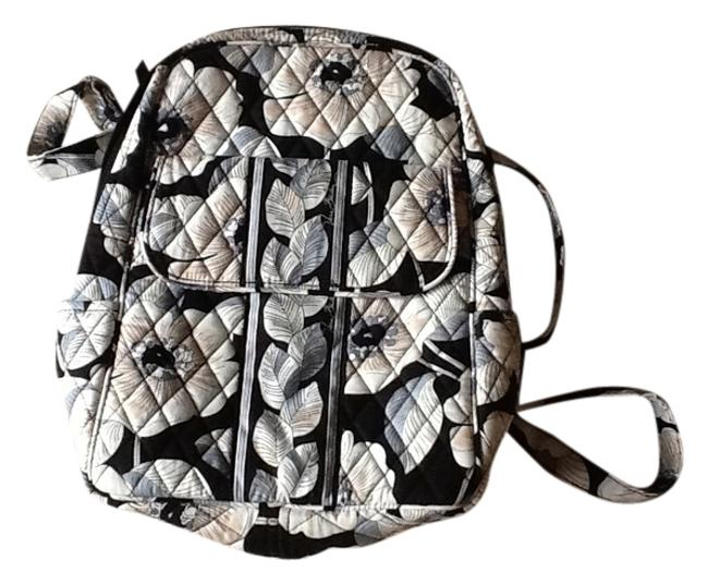Item - Black White Gray Tan Quilted Cotton Backpack
