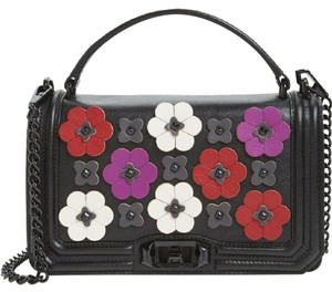 Rebecca Minkoff Flowers Applique Love Cross Body Bag