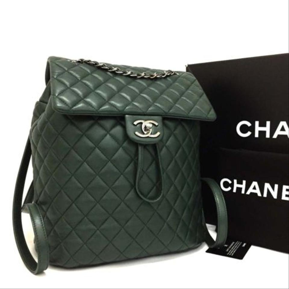 4447445acbf8 Chanel Urban Spirit Green Leather Backpack - Tradesy