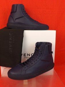 Givenchy Navy Mens Leather Urban Knots Hi Top Trainer Sneakers 46us 13 Shoes