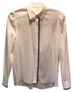 Alice + Olivia Button Down Shirt black and white