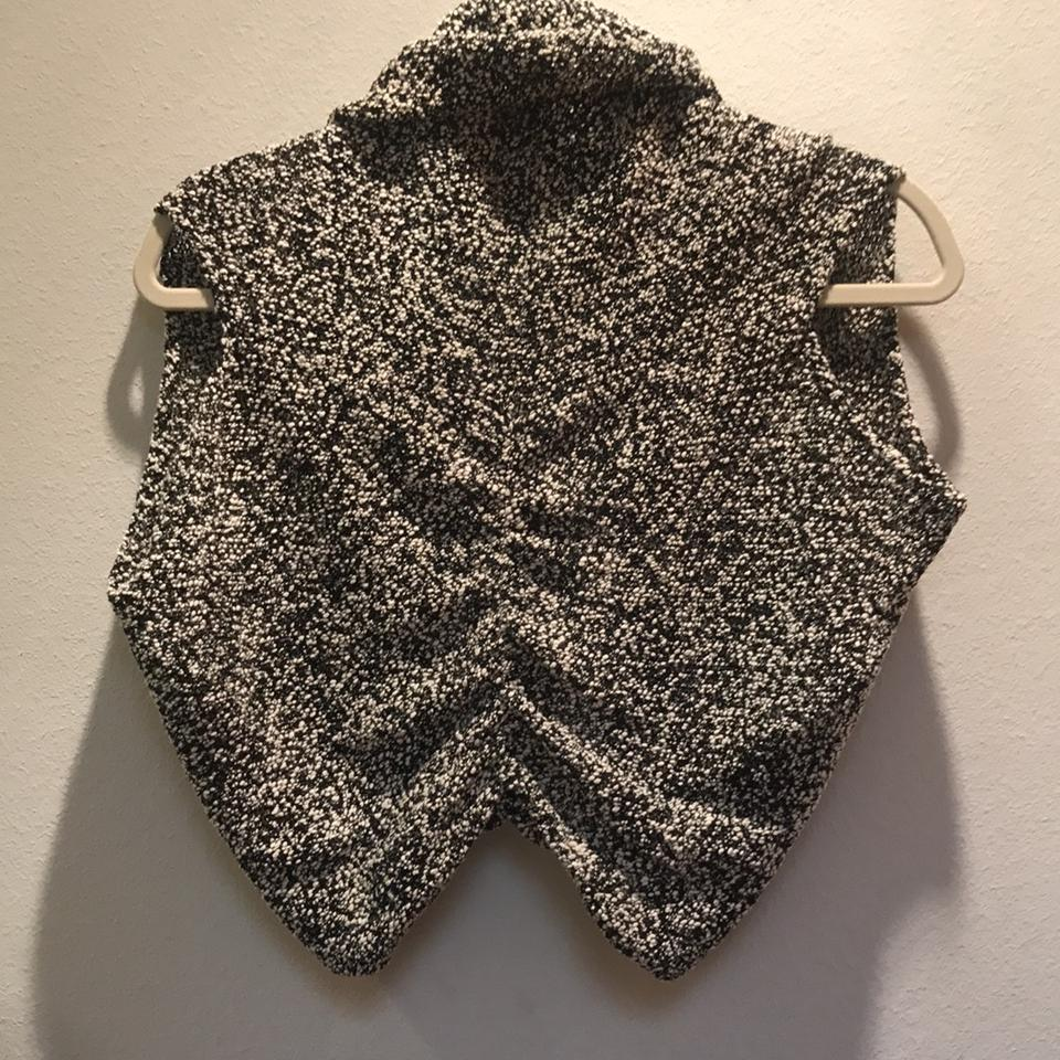 Sweater Black Alice Olivia and White Vest IYIqwFU