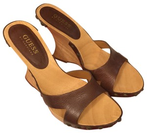 Guess By Marciano Dark Brown Wedges
