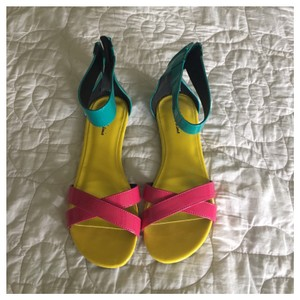 Michael Antonio pink/yellow/teal Sandals