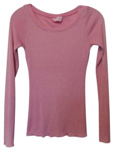 Michael Stars Anthropologie Knit Large Medium Top Pink, Silver