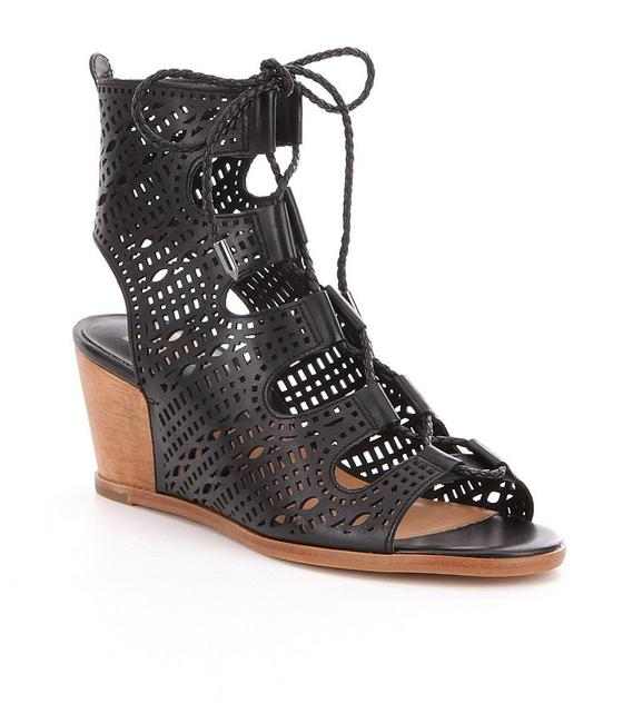 Dolce Vita Black Lamont Ghillie Perforated Lace-up Sandals Wedges Size US 9.5 Regular (M, B) Dolce Vita Black Lamont Ghillie Perforated Lace-up Sandals Wedges Size US 9.5 Regular (M, B) Image 1