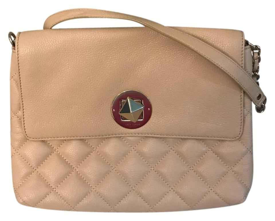 Kate Spade Quilted Purse Ecru Leather Shoulder Bag Tradesy