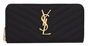 Saint Laurent NEW!!! CLASSIC SAINT LAURENT ZIP AROUND WALLET IN MATELASSE
