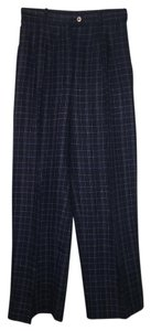 Chanel Linen Trouser Pants navy black