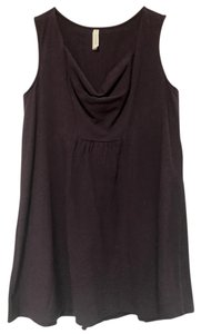 Avatar Imports Organic Draped Sleeveless Top Plum