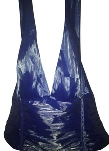 JS Collections Blue Halter Top