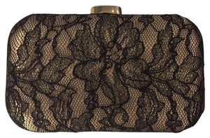 Banana Republic Black lace with champagne backing. Clutch