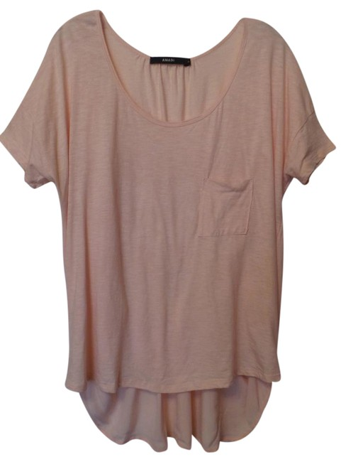 Item - Pink-peach Anthropologie Oversized Pink - Peach Short Sleeve S Tunic Size 12 (L)