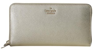 Kate Spade Kate Spade Gold Saffiano Leather Cameron Street Lacey Wallet