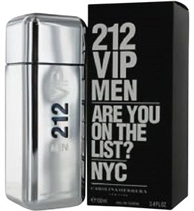 Carolina Herrera 212 VIP by Carolina Herrera 3.4 oz / 100 ml EDT Spray for Men ,New.!!