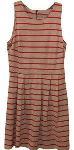 Ann Taylor LOFT short dress toffee and red on Tradesy