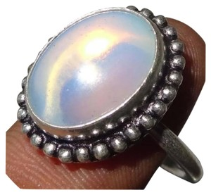 Other New 925 Silver Fire Opalite Ring Sz 8.25