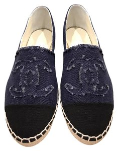 Chanel Denim Canvas Espadrille Ballerina blue Flats