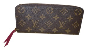 Louis Vuitton LIKE NEW Monogram Clemence Wallet with Fuschia Interior