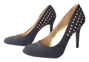 Mossimo Supply Co. Studs Suede Target Gold Rock Star Black Pumps