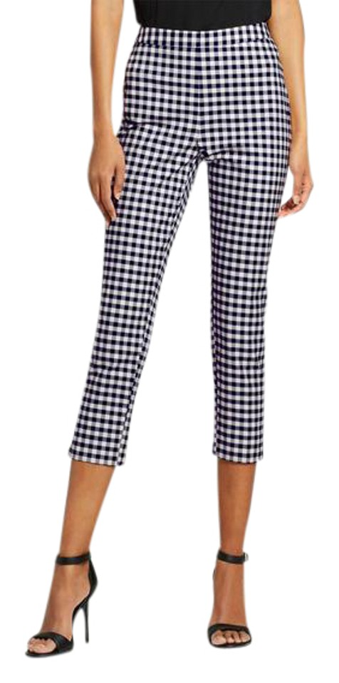 cc20f89a71e9c Victoria Beckham for Target Blue and White Gingham Twill Pants Size ...