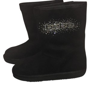 bebe black with diamonds on name Boots