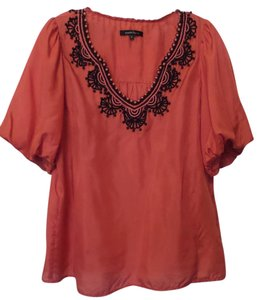 Nanette Lepore Anthropologie Silk Embroidered Beaded Tunic