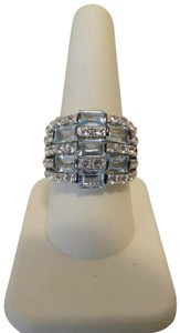 Colleen Lopez Colleen Lopez 5-Row Sky Blue Topaz Gemstone Ring 9
