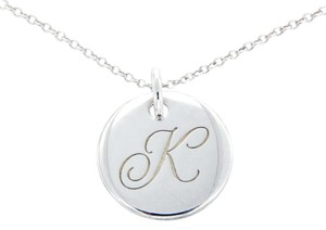 Tiffany & Co. Tiffany & Co 925 Sterling Silver Small Notes Alphabet Letter K Necklac