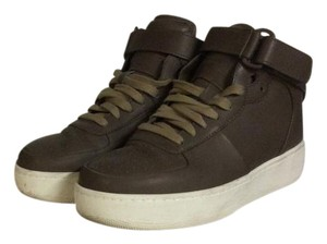 Céline Air Force Nike High Top Leather DARK TAUPE Athletic