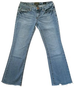 Seven7 Distressed Flare Leg Jeans-Distressed