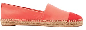 Tory Burch Comfortable Leather Slip On Coral Flats
