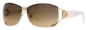 Gucci GUCCI GOLD CRYSTAL GG LOGO RIMLESS WRAP SUNGLASSES GG 2820/F/S