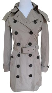 Burberry Double Breasted Belt Button Trench Coat