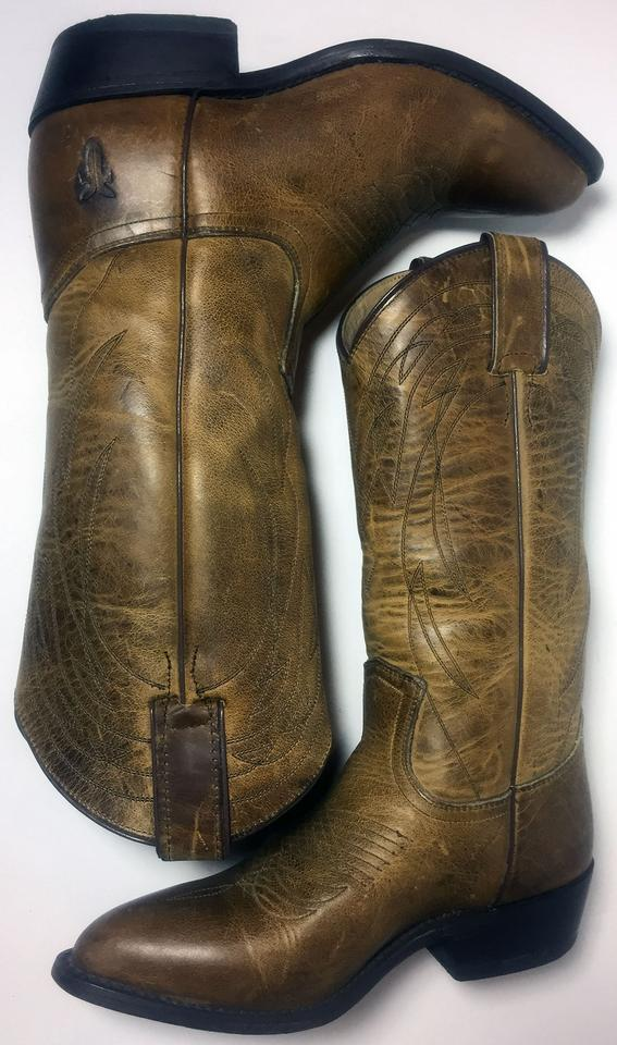6af2329e9f8 Frye Brown 77700 Billy Pull On Leather Cowboy Women's Boots/Booties Size US  6.5 Regular (M, B) 37% off retail