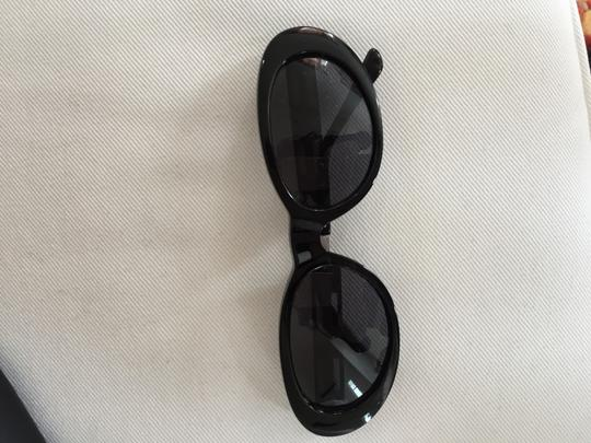 Versace Versace black sunglasses with silver hardware