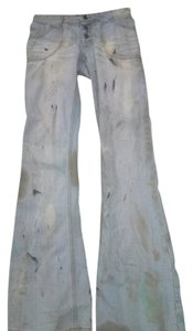 bebe Agatha Resurrection High Waist Zombie Vampire Flare Leg Jeans-Distressed