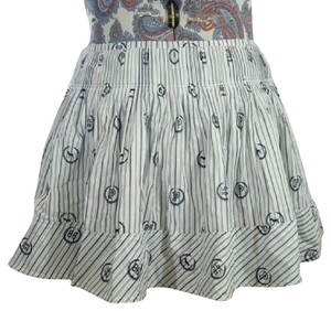 PINK Victoria's Skirt navy blue, gray and white