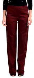 Maison Margiela Straight Pants Burgundy