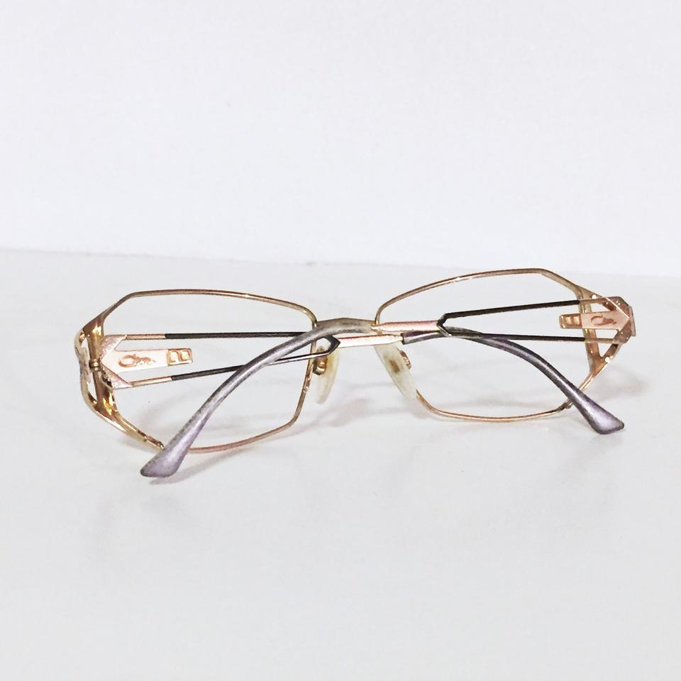 651ba1817d2 Cazal Vintage Frames No Glass Fashion Eyewear Rare Gold Sunglasses ...