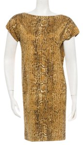 Reptile Print Maxi Dress by Tory Burch Silk Like New