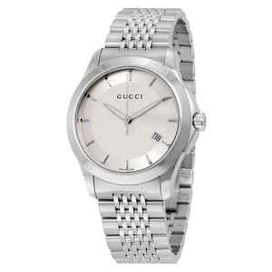 Gucci Gucci G Timeless Mens Stainless Steel Bracelet Watch YA126401