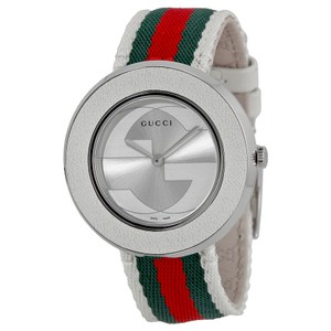 Gucci GUCCI U-Play Medium Stainless Steel Tricolored Nylon Women's YA129411