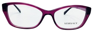 Versace Plum Purple Classic Cat Eye Retro Style RX Eyeglasses Frame 3236 5220